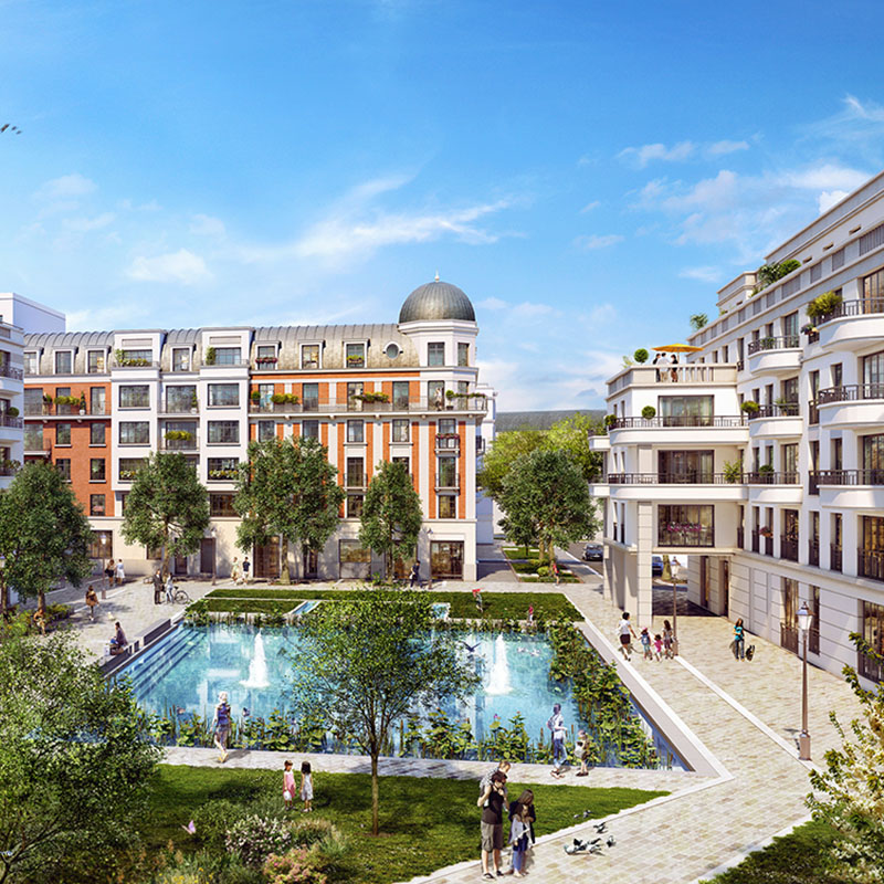 Clamart (France) - Eiffage Aménagement réalise le quartier Grand Canal