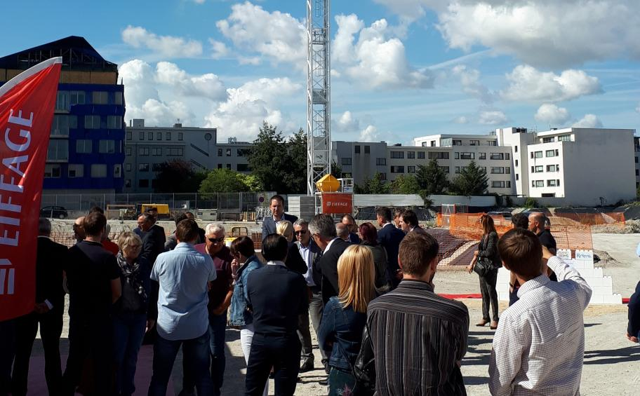 Eiffage Aménagement and the SEM Agencia lay the foundation stone of the Clairmarais development project in Reims