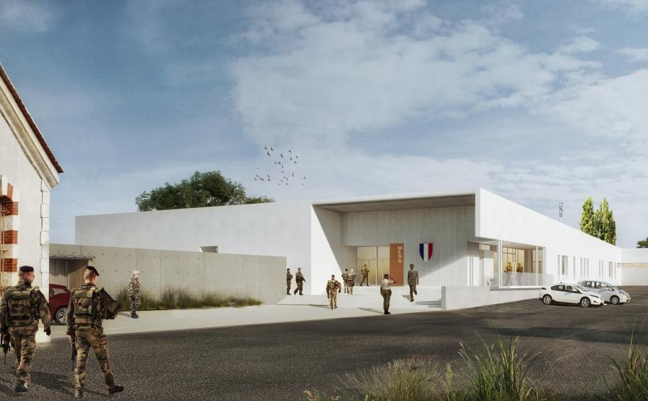 Eiffage Construction chosen to realize a military mess in Angoulême