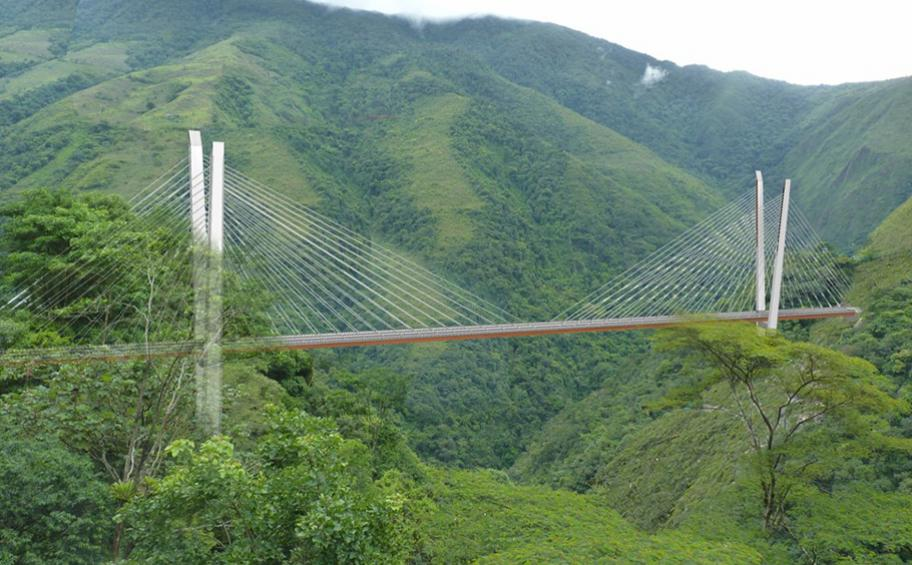 Eiffage to build Chirajara cable-stayed bridge in Colombia