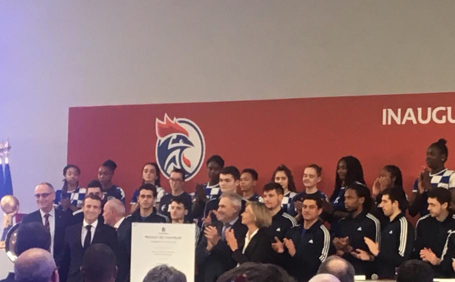 The new showcase of the 2nd French national sport «Maison du Handball» is inaugurated in Créteil