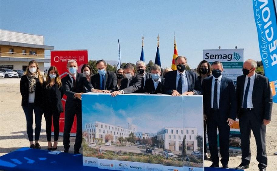 Ecodistrict Pôle Yvon Morandat: in Gardanne, the first stone is laid, the work is launched, and Eiffage Immobilier takes over!