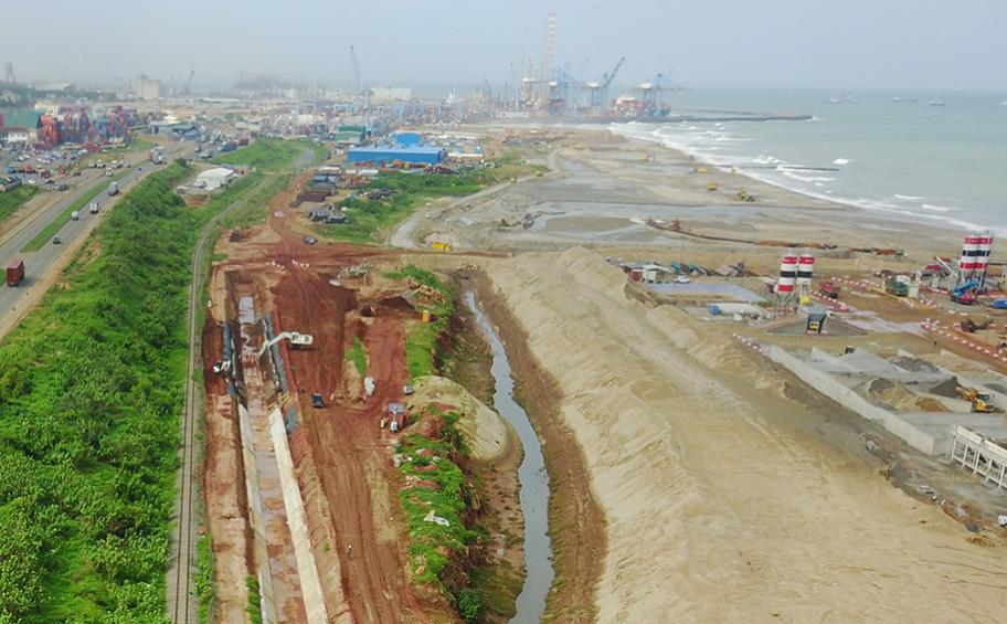 Tema: work on the harbour in progress