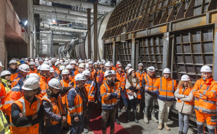 Grand Paris Express: the tunnel boring machine on line 15 named Camille