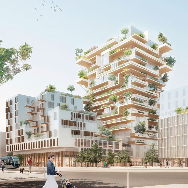 Eiffage Construction selected to construct the first mixed wood and concrete building in France