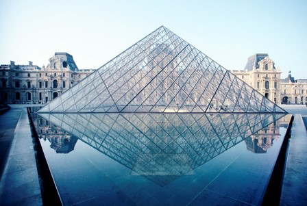 Renovation of the grand louvre - Pyramide du louvre construction ...